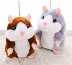 Talking Hamster Repeats What You Say Plush Animal Toy Electr