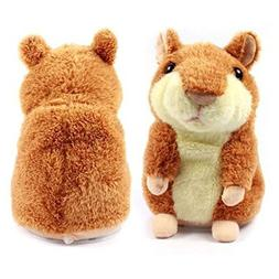ZooArts Mimicry Pet Talking Hamster - Cute Talking Plush Ham