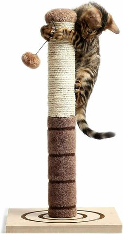 4 Paws Stuff Tall Cat Scratching Post - with Cat Interactive