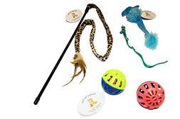 EMG Pet Emporium Teaser - Mouse - Bell Toy Bundle Cats   Leo