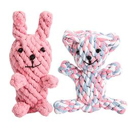 Pet Teeth Cleaning Chew Toys Cotton Rope Biting Toys For Med