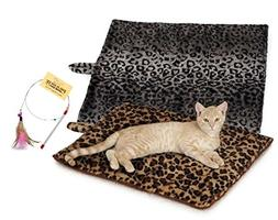 Quality Thermal Cat Mat + Free Cat Toy, Cozy Self Heating Wa