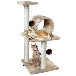 """Animal Planet 30"""" Three-Tiered Cat Tree House, Provides Hour"""