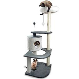 Furhaven Tiger Tough Cat Tree House Furniture for Cats and K