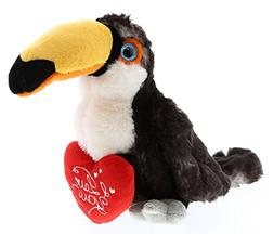 DolliBu Toucan Bird I Love You Valentines Stuffed Animal - H