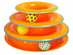 Petstages Tower of Tracks 3 Balls Spin & Roll, Free Shipping