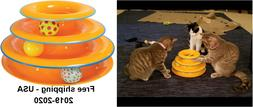 Petstages Tower Tracks Cat Toy 3 Level Of Interactive Play C
