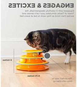 Petstages Tower of Tracks Cat Toy HOT Three Layers Intellige