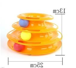 Tower of Tracks Cat   Interactive Cat Ball Toy with 3 Balls