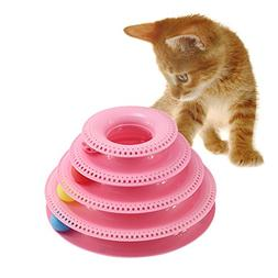 PanDaDa Tower of Tracks Cat Toy 3/4 Tier Interactive Pet Gam