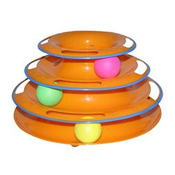 PanDaDa Tower of Tracks Cat Toy 3 Tier Interactive Pet Game