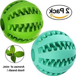 Foyojo 2-Pack Toy Ball for Dogs Tooth Cleaning Dog Toy Balls