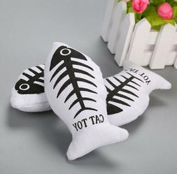Fish Cat Toy Dog Plush Stuffed Scratch Shape Catnip Favor To