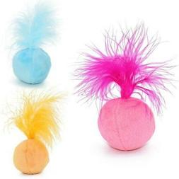Toys Cat Teaser Candy Color Ball Assorted Feather