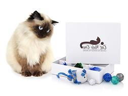 Cat Toys Box with Corrugated Cardboard Cat Scratcher – 12-