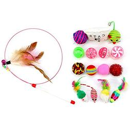 16 Pcs Toys Sets Interactive Bells Toys Funny Gift For Kitty
