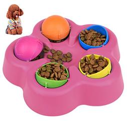 Petacc Treat Dispensing Dog Toy Interactive Pet Food Leakage