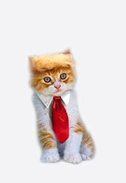 Trump Style Pet Costume Cat Wig, Donald Dog Clothes with Col