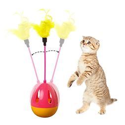 Tumbler Kitten Toys Balls Interactive Cat Toys Teaser Wands