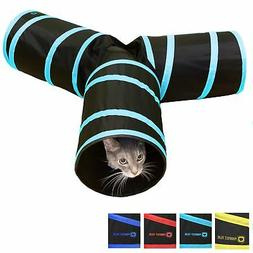 Tunnel of Fun, Collapsible 3-way cat tunnel with crinkle