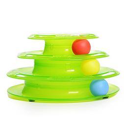 Turbo Cat Scratcher - Cat Toy Ball - Plastic Three Levels To