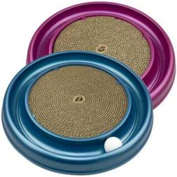 Turbo Scratcher Cat Toy Round Ball Track And Cardboard Enter