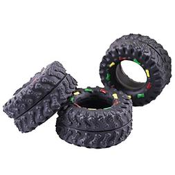 BECKY,3/5 Pcs Black Tyre Football Soccer Fun Squeaking Rubbe