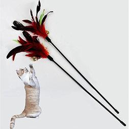 Toonol Ultra Long Rod Pets Toy Fashion Cat Play Feather Teas