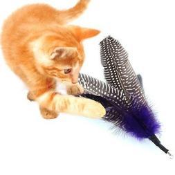 US 5PC Pet Cat Kitten Feather Refill Replacement Wand Intera