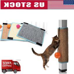 US Cute Pet Cat Kitten Natural Sisal Scratcher Toys Scratchi