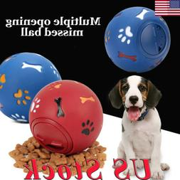 US Pet Training Ball Dog Playing Toys Puppy Cat Chew Treat T