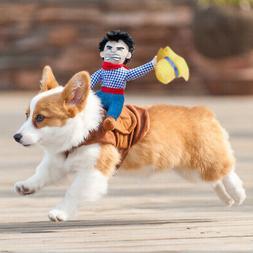 US Pets Puppy Cowboy Dog Rider Dog Cat Coat Clothes Party Co