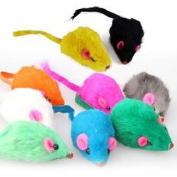 US Random Pet Dog Cat Toys Rabbit Fur False Mouse Kitten Pla