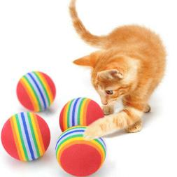 USA 10Pcs Rainbow Toy Ball Small Dog Cat Pet Eva Toys Sponge