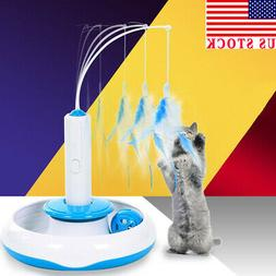 USA Feather Teaser Cat Toy Multifunction Electric Interactiv