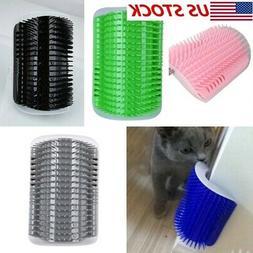 usa pet cat self groomer brush wall