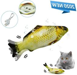 USB Charging Interactive Fish Toy Made of Cotton and Short P