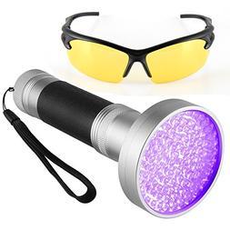 BOMEON UV Flashlight Black Light, Super Bright 100 LED Ultra