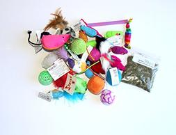 Variety Pack Catnip Cat Toys with Free Bag of Midlee Brand C