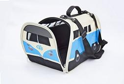 VW Volkswagen T1 Camper Van Pet Carrier - Blue