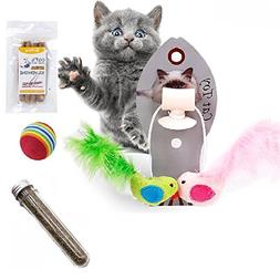 Afuby Wall Playing Catnip Toys Silvervine Cat Catnip Sticks