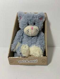 warm and cozy plush blue gray cat