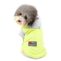 SELMAI Warm Fleece Dog Hoodie Jacket Winter Coat for Small D