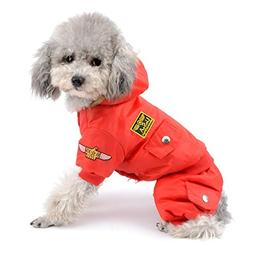 SELMAI Waterproof Fleece Lined Dog Winter Coat Snow Suit Air