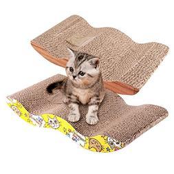 Homedeco The Wave Curved Catnip Cat Scratcher Cat Scratch Bo