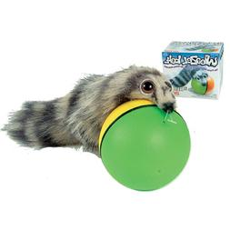 WEAZEL BALL TEASER TOY Pet Dog Cat Chase Rolling Moving Batt