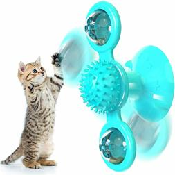 Windmill Cat Toys Fidget Spinner for Cats with LED and Catni
