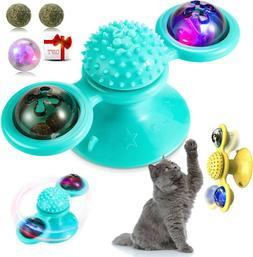 Windmill Cat Toys Fidget Spinner for Kitten with LED and Cat
