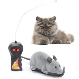 Wireless Remote Control Simulation Plush Mouse Mice Kids Toy