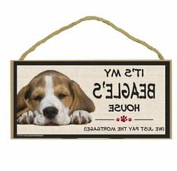 Imagine This Wood Breed Decorative Mortgage Sign, Beagle